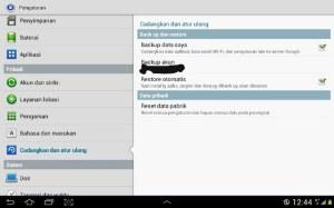 cara setting backup data dan restore otomatis android