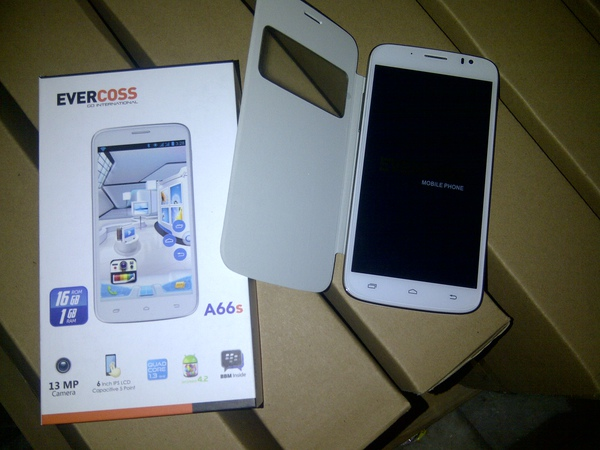 review evercoss mobile android a66s terbaru