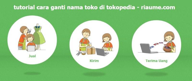 tutorial cara ganti nama toko di tokopedia - riaume picture