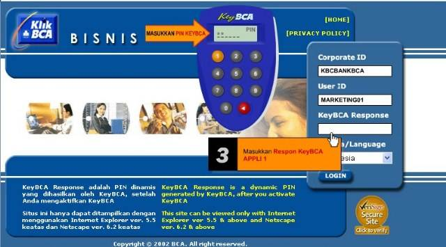 Solusi jika internet banking di bank bca atau klikbca terblokir - picture