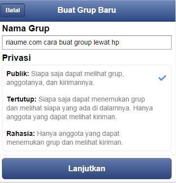 cara buat group fb dari hp-gambar