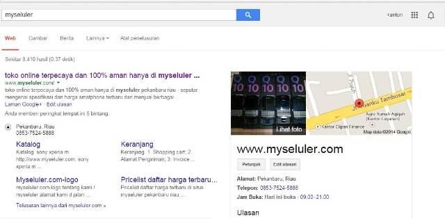 contoh gambar toko online sudah tervarifikasi google place- image