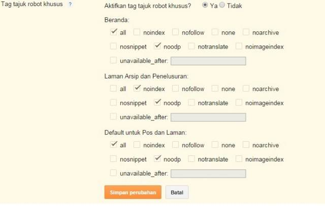 setting tag tajuk robot khusus blogger - image