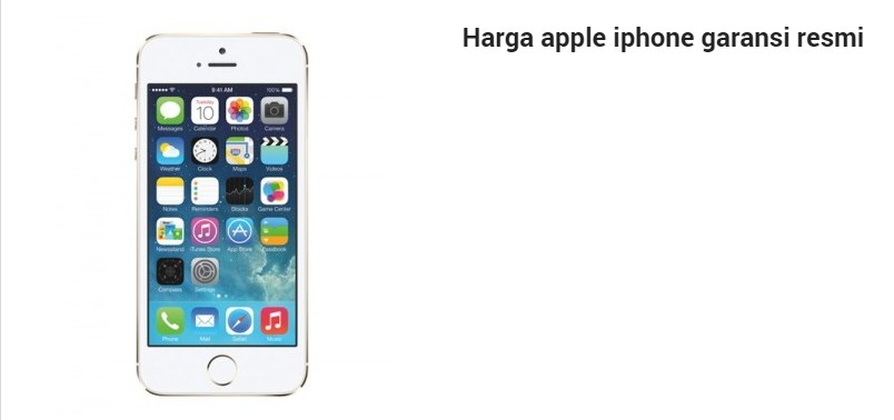 List harga apple iphone garansi resmi indonesia