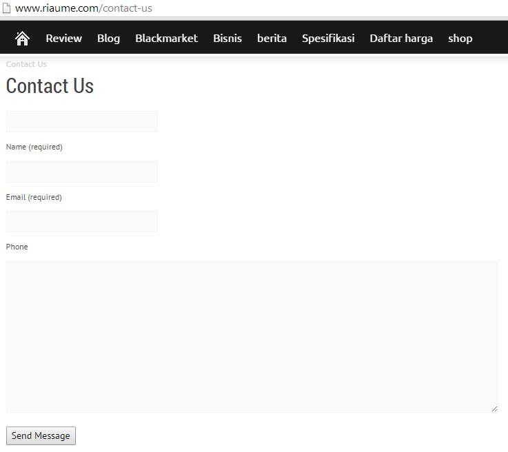 Navigasi halaman kontak