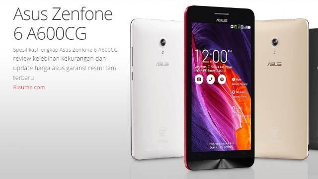 Spesifikasi lengkap Asus Zenfone 6 A600CG dan harga image