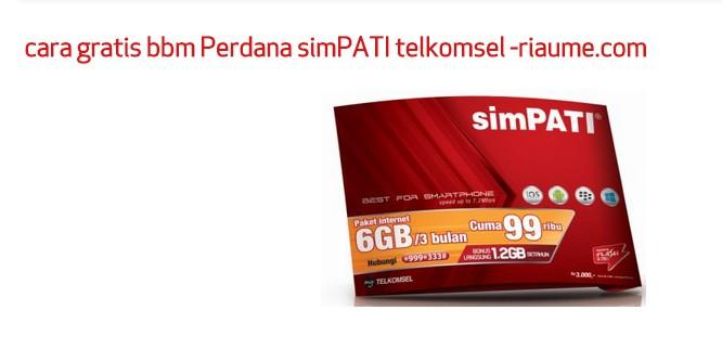 cara gratis bbm Perdana simPATI telkomsel - image