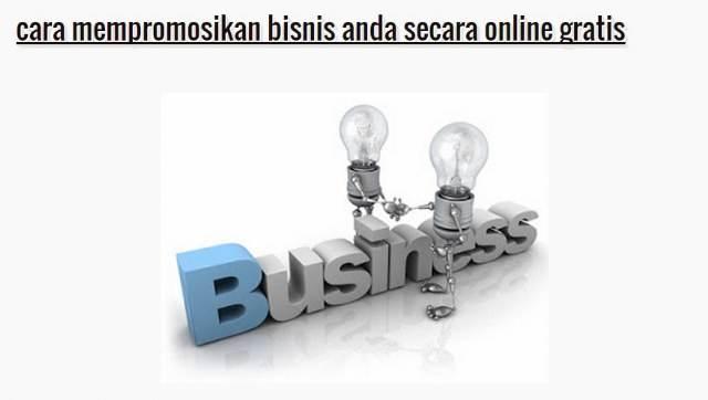 cara mempromosikan bisnis - image