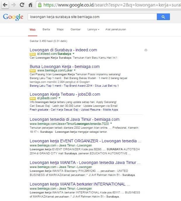 mencari lowongan kerja di situs tertentu-image