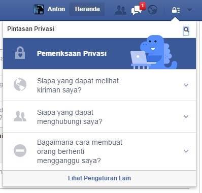 privasi akun profil publik facebook-gambar