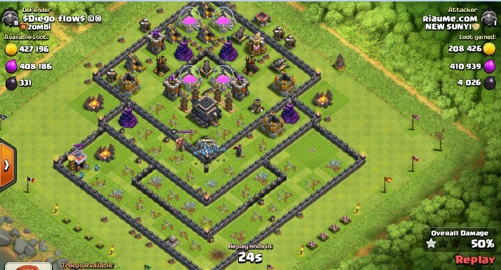 cara farming dark elixir town hall 9