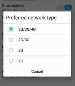 cara merubah jaringan 2g 3g ke 4g