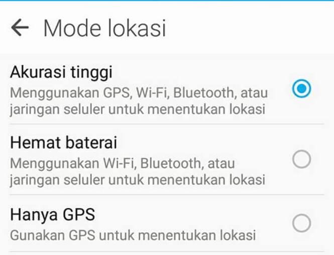 cara agar lokasi gps hp android akurat tinggi