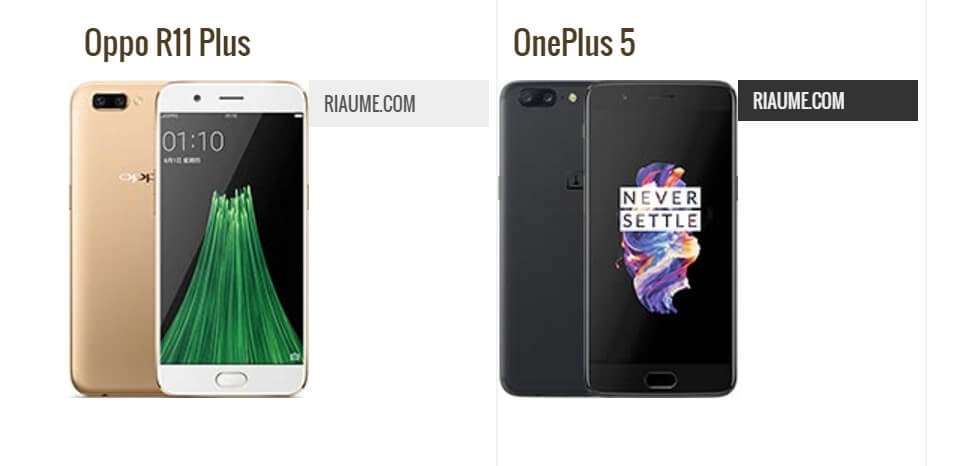 Oppo R11 Plus vs OnePlus 5