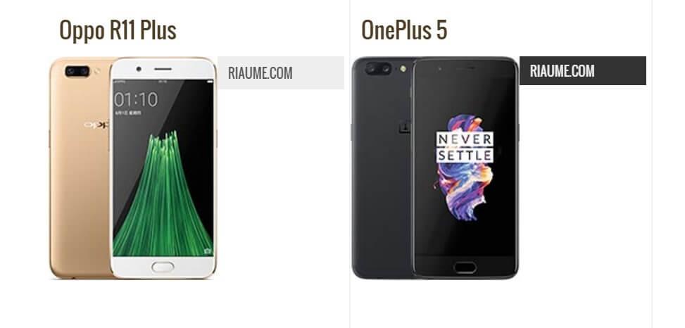 Oppo R11 Plus vs OnePlus 5