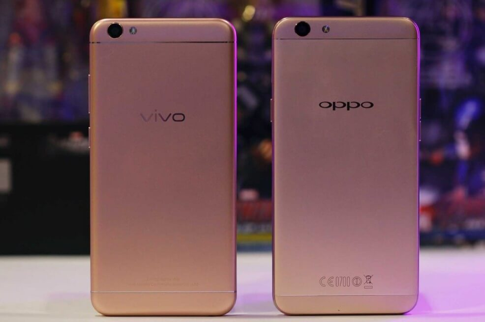 hp Vivo V5 vs OPPO F1s