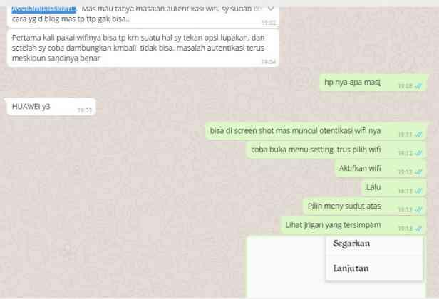 masalah wifi autentikasi hp huawei