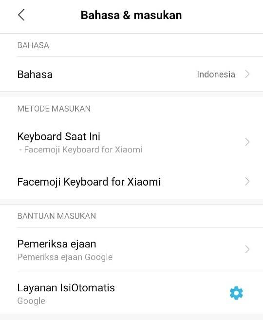 Cara menghilangkan kamus getar dan suara facemoji keyboard for xiaomi
