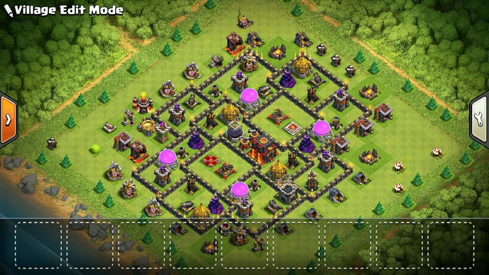 Base Coc Th 9 Max Terkuat 7