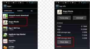 cara clear data atau hentikan paksa aplikasi atau game android tersebut