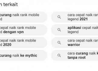 cara curang naik rank Mobile Legend terbaru