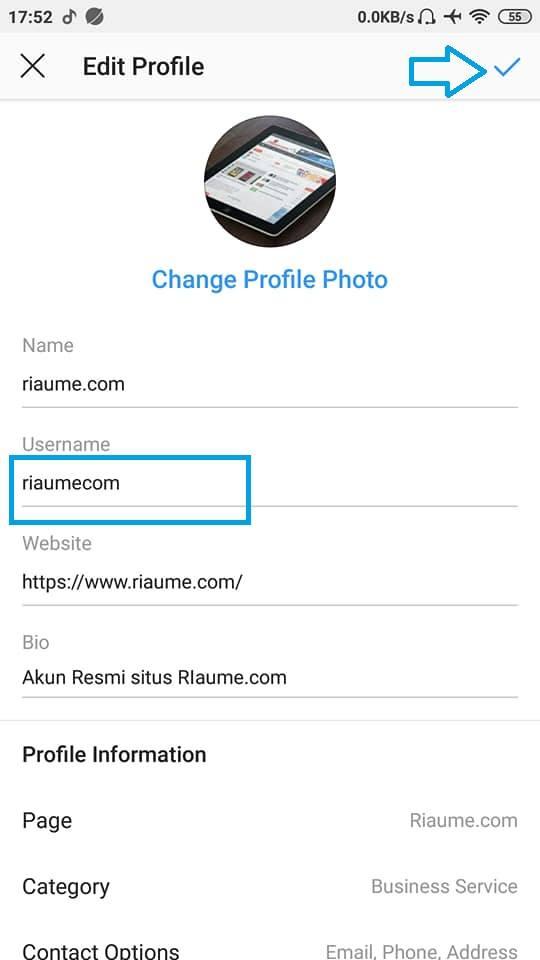 cara ganti username instagram di android terbaru