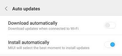cara hilangkan auto download pembaharuan sistem miui xioami ketika terhubung wifi