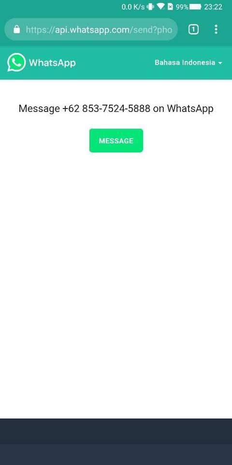 cara kirim pesan wa tanpa simpan nomor android terbaru