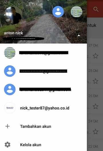 cara melihat email masuk yahoo yang telah terhubung pada hp android