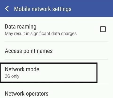 cara memilih mode jaringan 2g 3g dan 4g di hp htc