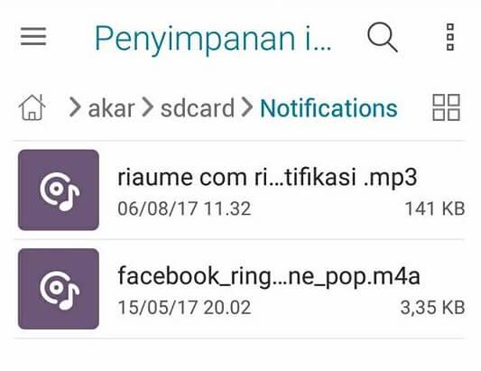 cara menambah ringtone mp3 notifikasi di android tanpa root terbaru