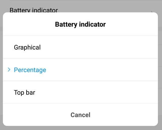cara menampilkan status bar baterai persentase pada pocophone