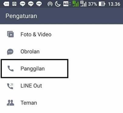 cara mengubah nada panggilan line terbaru