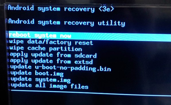 cara mereset android via recovery mode