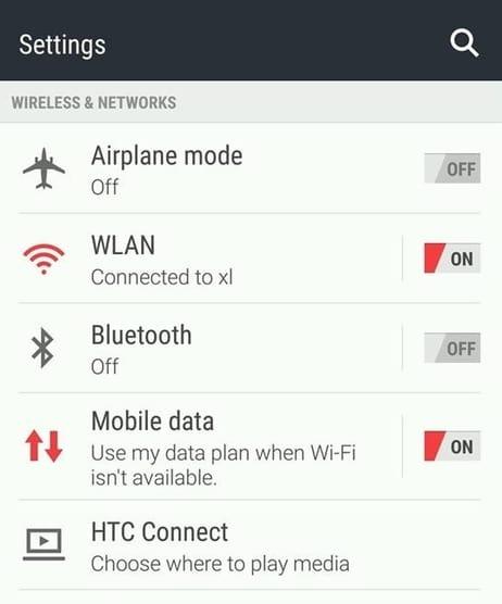 cara settings 2g 3g dan 4G pada hp htc one m8
