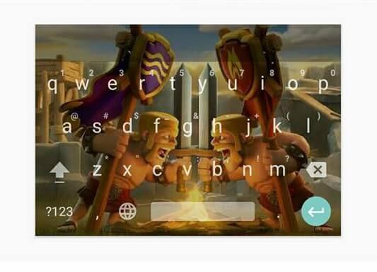 contoh cara ganti keyboard android menjadi gambar clash of clans