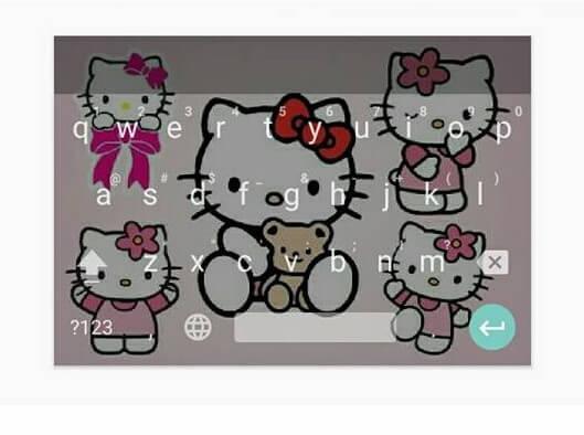 contoh cara ganti keyboard android menjadi gambar hello kitty