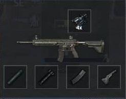 fullattachment single tapping (single) untuk senjata ar m416 pubg mobile