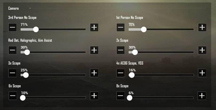 fungsi dan cara setting sensitivitas camera pada pubg mobile