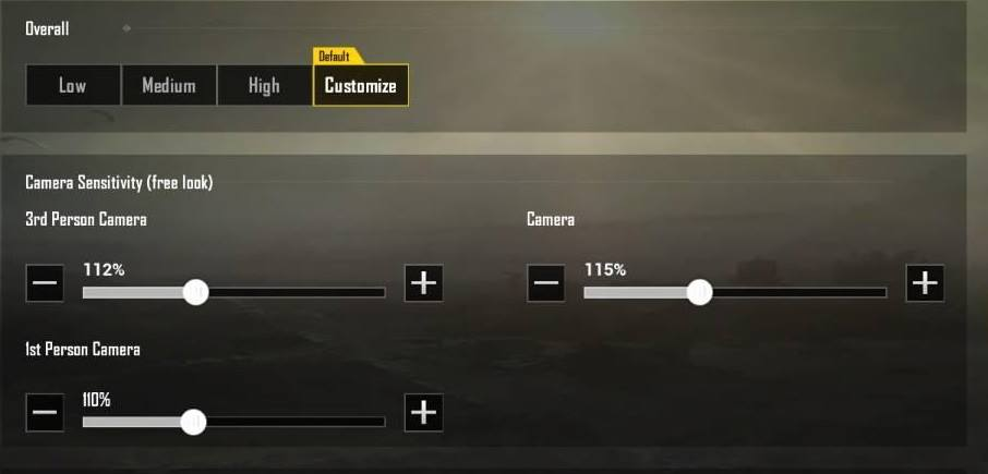 fungsi dari camera sensitivity ( free look) pubg mobile
