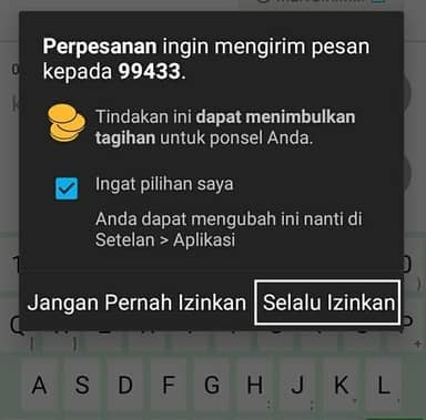 izinkan sms fitur sms