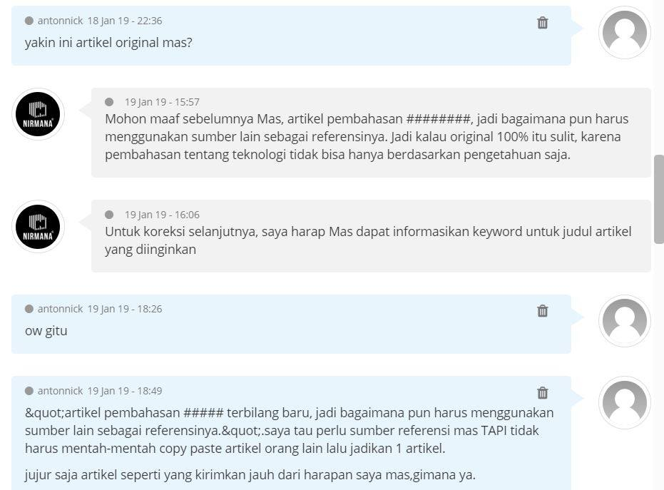 jasa penulis artikel online sribulancer hasil copy paste