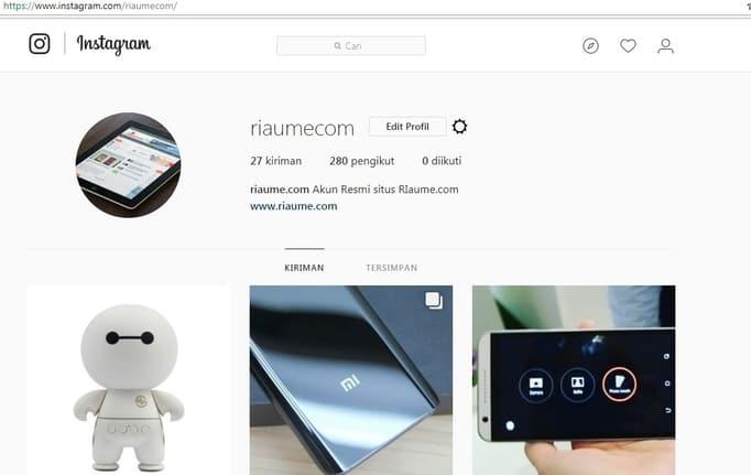 menggunakan instagram di pc tanpa aplikasi