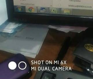 menghilangkan watermark shot on mi 6x dual camera