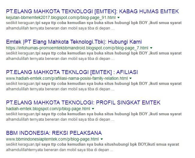 pemenang undian pt emtek indonesia via bbm terbaru