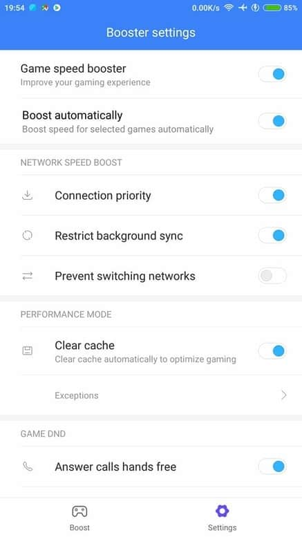 pengaturan game booster xiaomi miui 9