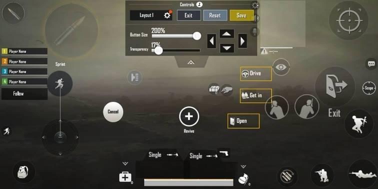 setting control pubg mobile