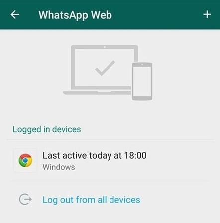 tanda aplikasi whatsapp sedang di sadap atau terhubung di web whatsapp