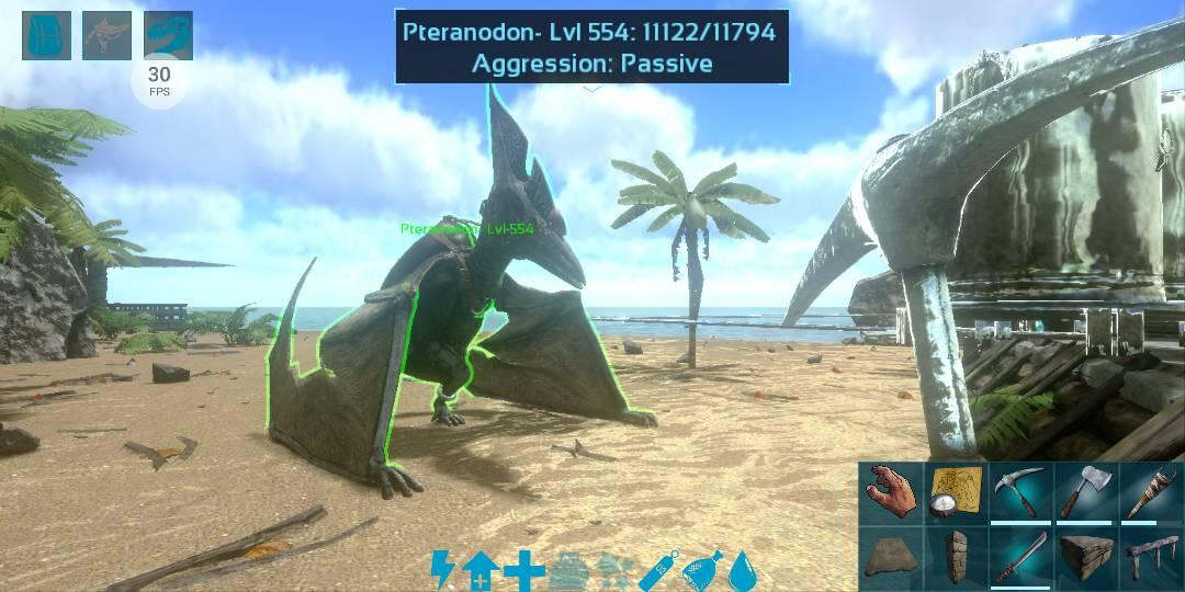 test tampilan fps ark survival evolved mobile
